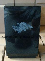 Black Granite Cemetery Stone Flower Vase
