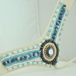Fashion Bohemia Beaded Slipper Upper Accessories