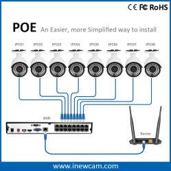 H. 264 4MP/3MP P2p IP Camera 16 Channel Network DVR