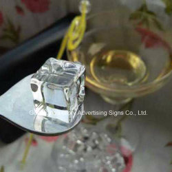 Customized Cube Acrylic Block Acrylic Ice Block Bar Decoration Ice