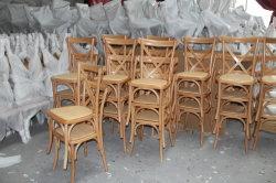 Beech Oak Solid Wood Hotel Banquet Rattan Cross X Back Chair Dining Furniture