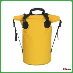 Custom Red Color Sport Waterproof Dry Backpack Bag with Shoulder Straps (jp-wbs005)