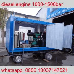 22000psi 150MPa High Pressure Cold Water Jetting Machine Cleaning Equipment