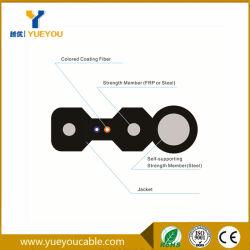 FTTX Flat Drop Optic Fiber Cable 2 Cores G657A Fiber