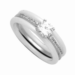 925 Sterling Silver Jewelry Finger Ring Combine Ceramic, Wedding Ring, Wholesale Ring