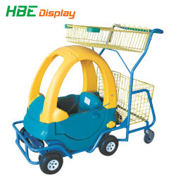 Supermarket Kiddy Shopping Cart with Toy Car