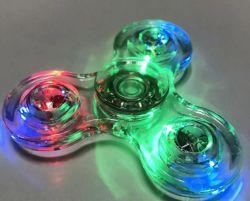 Transparent LED Light Hand Spinner Fidget Crystal Plastic Spinner