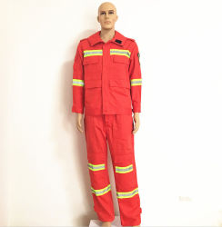 100% Cotton Red High-Visibility Fr Anti-Static Jackets Workwear for Protection