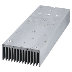 Black Anodized Aluminium/Aluminum Heatsink with CNC Machining