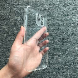 for iPhone 12 Phone Case 1.0mm Clear Transparent Soft TPU Case Rubber Gel Case for iPhone 12 PRO Max