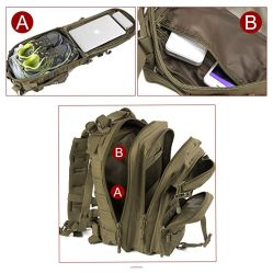 Military Tactical Backpack Army Molle Assault Rucksack Pack for Outdoors