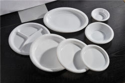 Shape 2 Easylife Various Disposable PS Plastic Round Plate Shape 2