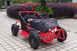 Red 80cc Pedal Go Kart Plus for Kids