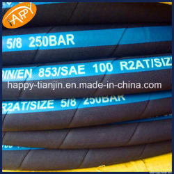 R2/2sn Two Wire Braided Rubber High Pressure Hydraulic Rubber Oil Hose