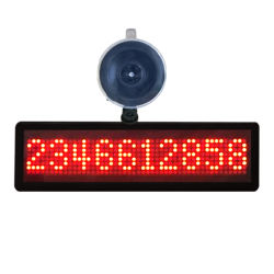 Mini 848 Message Rolling LED Display Screen Programmable LED Sign for Car with Single Sucker