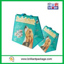 Promotional Cheap Custom Peg Food PP Woven Handle Bag