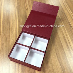 Rigid Cardboard Recycled Packaging Magnet Boxes Hard Paper Gift Magnetic Box with 4 Inner Open Compartments