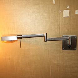 Hotel Decorative Rotatable Satin Nickel Bedside Reading Wall Lamp