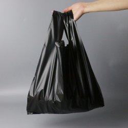 HDPE Black Rigid Loop Handle Plastic Bag