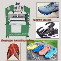 Sport Shoes Fabric Upper Vamp Laminating Machine No Sewn Process
