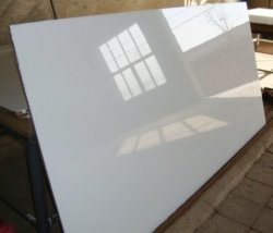 High Glossy White UV Melamine MDF Board for Cabinet (ZH977)