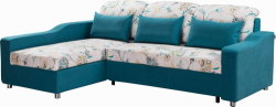 Multifunctional Fabric Corner Sofa Bed with Storage for Wholesales
