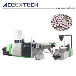 Plastic LDPE/PE/BOPP Film Granulating & PP Woven Bag Pelletizing & HDPE Regrind Recycling Pellet Machine