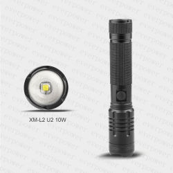 Zoom USB 10W CREE Xml-U2 LED Rechargeable Flashlight with Power Bank