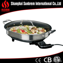 Stainless Steel Nonstick Kitchenware Electric Skillet (ETLapproval)