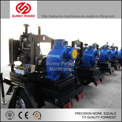 Diesel Water Pump for Mining/Flood Drainage with Trailer/Weather-Proof Canopy