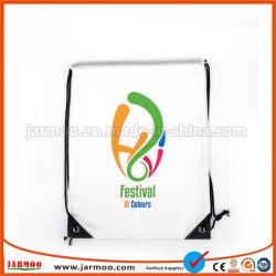 Custom Logo Printed Colorful Fabric Drawstring Gift Bag for Promotion
