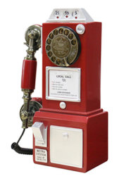 Hot Sale Retro Classic Rotary Dial Public Phone with Classic Handset Design