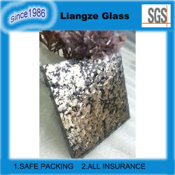 Pattern Grey Laminated Glass with Black Drawing