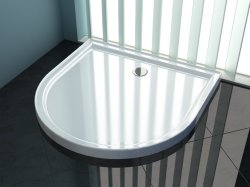 Fan- Shaped Round ABS Shower Base