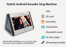 10inch Portable Touch Screen with Bluetooth Function Touch Screen Portable WiFi Karaoke System