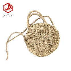 Women Bohemia Round Straw Weave Bag Beach Shoulder Bag Handbag Tote Purse