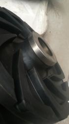 Horizontal Slurry Pump Spares OEM Rubber Imepller Stainless Steel Cap Hat Protector