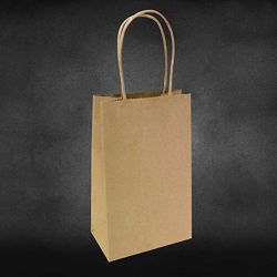 Brown Kraft Paper Bags Shopping Mechandise Party Gift Bags