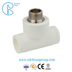 Hot Sale Double Tee for Wall Mounting PPR Fitting Tee Fitting PPR Tee