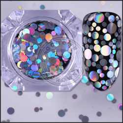 Laser Holographic Flakies Mixed Round Glitter Nail Sequins Paillette