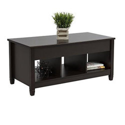 Wooden Lift Coffee Table with Storage End /Side Table Modern