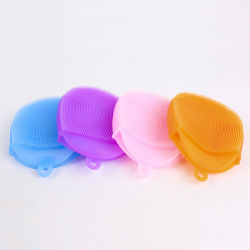 Food Grade Antibacterial Non Stick Silicone Kitchen Sponge for Cleaning Washing Dishes Cups Fruits Vegetable