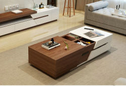 Wooden Coffee Table with TV Stand, Center Table (1485)