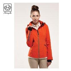 Personalized 100% Polyester Women Lightweight Waterproof Orange Sport Jacket From China Garment Factory