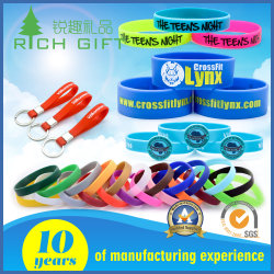 Custom Fashion Logo Sport Rubber Silicone Bracelet Customized Printed Smart RFID Watch USB Mosquito Imprinted Embossed Silicon Wristband for Promotional Gift