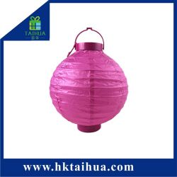 Chinese Art Craft Battery Operated Paper Lantern With Led Light