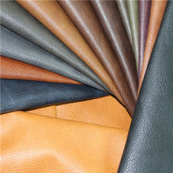 Exported Quality Formaldehyde Free PU Material Leather with Competitive Price