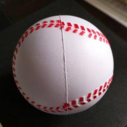 Training PU Softball White Raised Seams