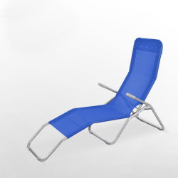 Wholesale Fashion Comfortable Outdoor Cheap Steel Folding Long Beach Pool Lounge Chair