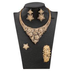 d90d74992 Dubai Luxury Star Shape Necklace Zircon Earrings Bridal Custom Jewelry  Wholesale